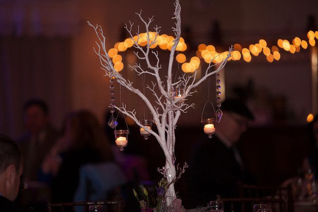 wedding reception centerpiece by mark bryan design