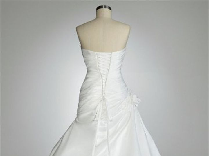 Tmx 1338478743793 StraplessPleatedBodiceGownwithPickUpSkirtStyle12047201 Branford wedding dress