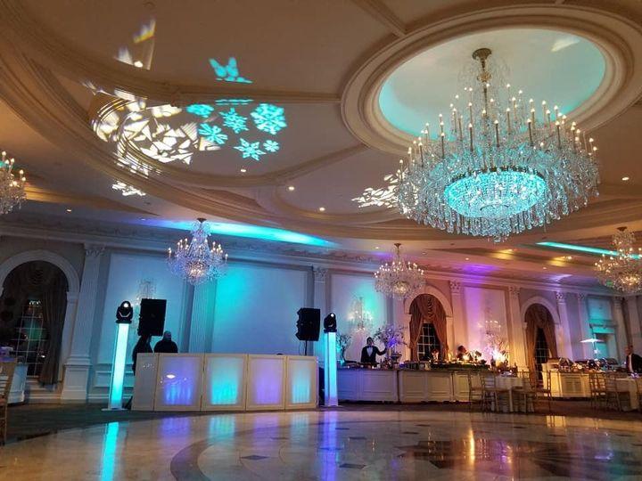 Blue reception lights