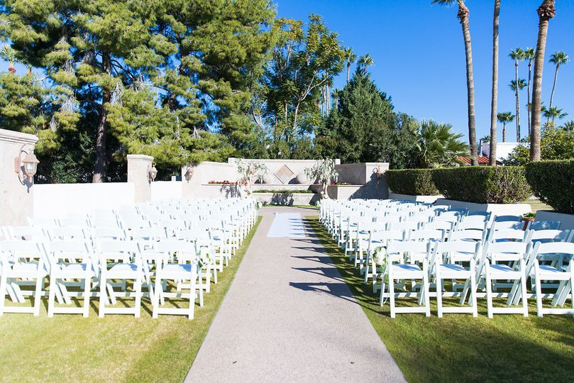More then enough seats for any size ceremony.