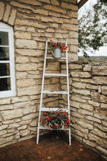 Floral ladder