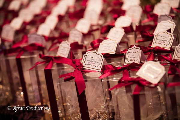 Unique Wedding favors with guest seating