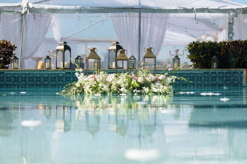 Pool floral decor