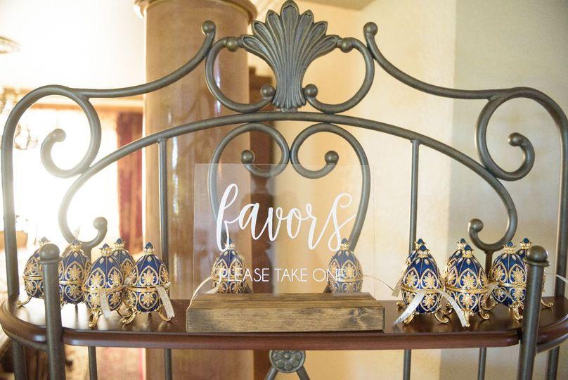 Luxury wedding favors
