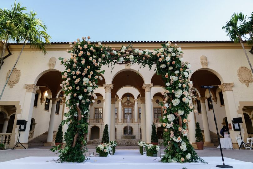 Ceremony Arch at Biltmore Miam