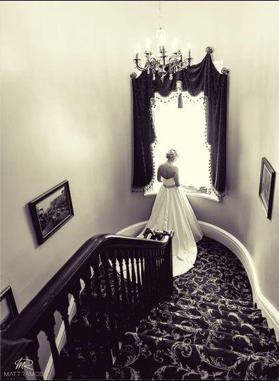Bride on Third Floor Landing