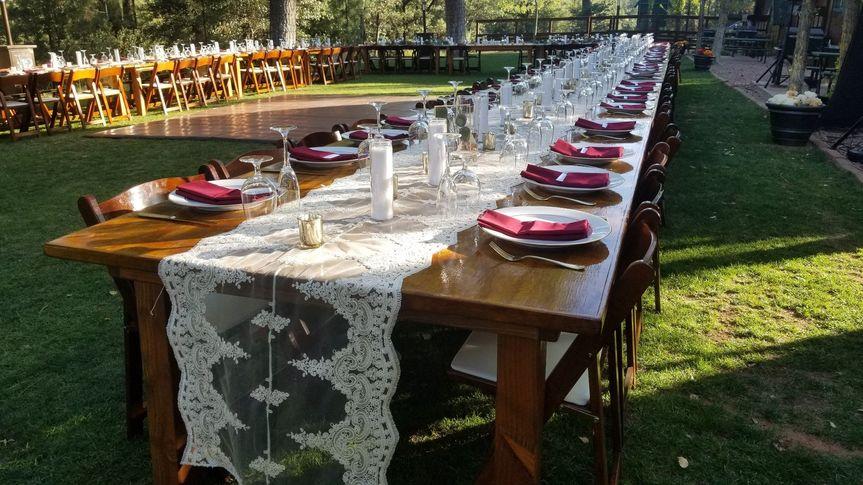 Charming Farm Tables