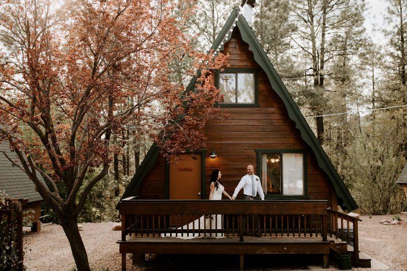 Stunning A-line pine cabin