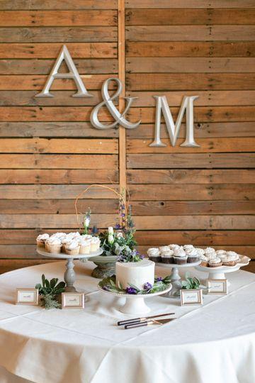 Crest Room Wedding Cake Area