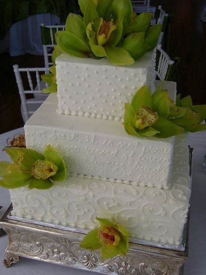 buttercream and orchids