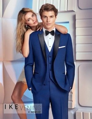 Tmx 1486148975657 Cobalt Blue Tuxedo By Ike Behar Merrick, New York wedding dress