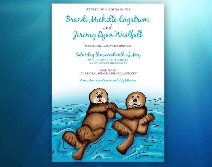 Brandi & Jeremy's Wedding A proposal in front of otters means they must be donned on the...