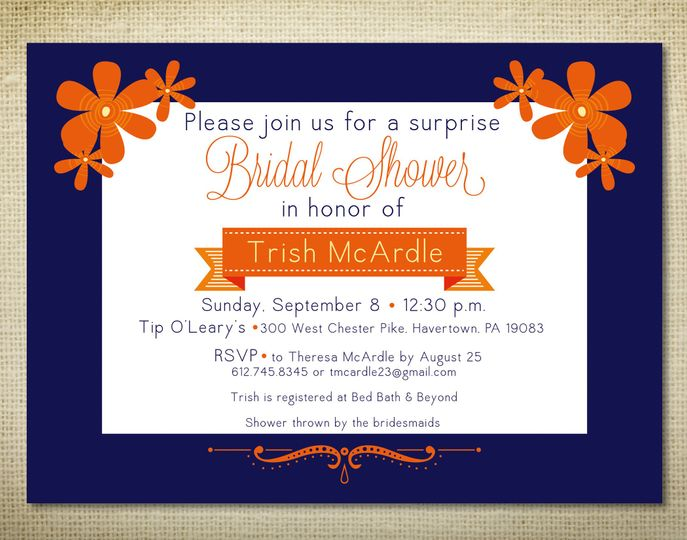 Trish's Bridal Shower Trish's bridal party was looking for a simple, modern invitation. With clean...