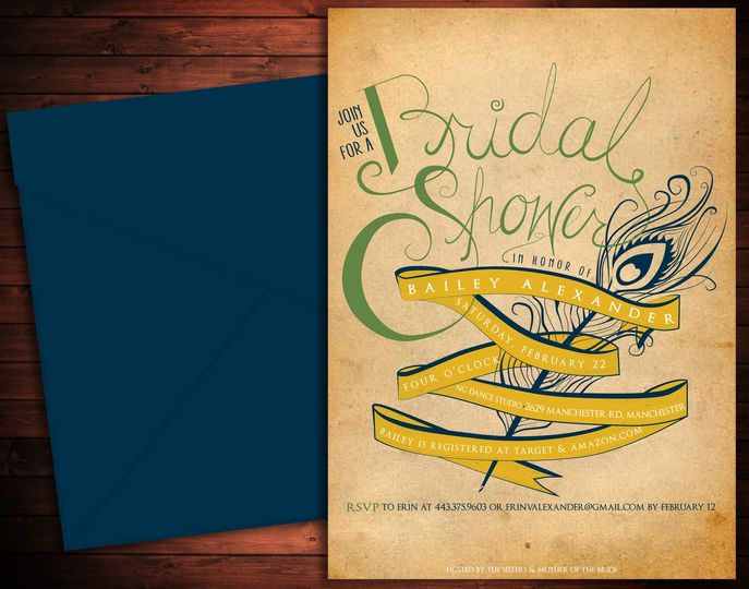 Bailey's Bridal Shower From the hand-drawn main elements to the matching recipe box, cards &...