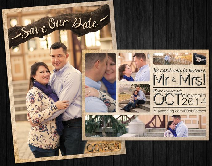 Erin & Bob's Save-The-Dates My personal favorite because they are my fiance and I's. This classic...