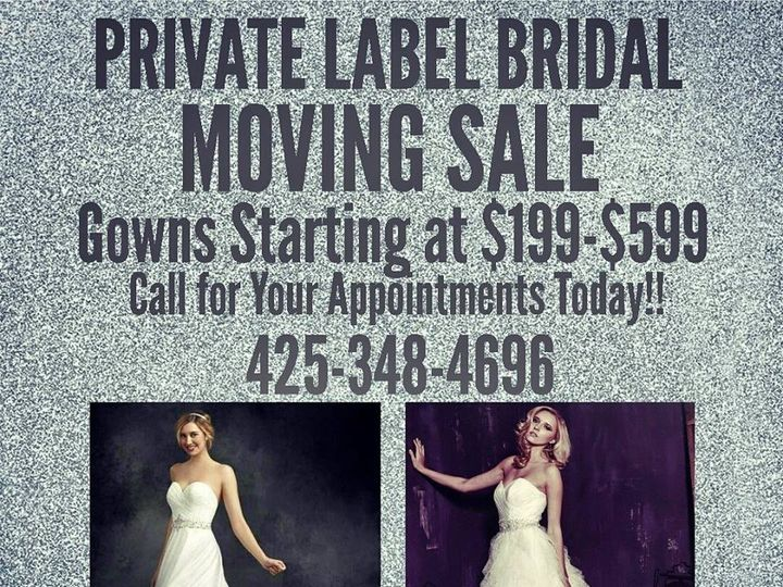 Tmx 1436659122983 Pl New Moving Sale Promo Everett wedding dress