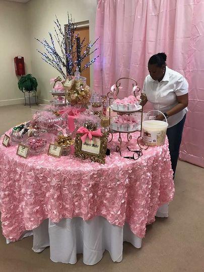 Pink theme buffet