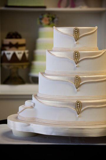 Elegant designed cake
