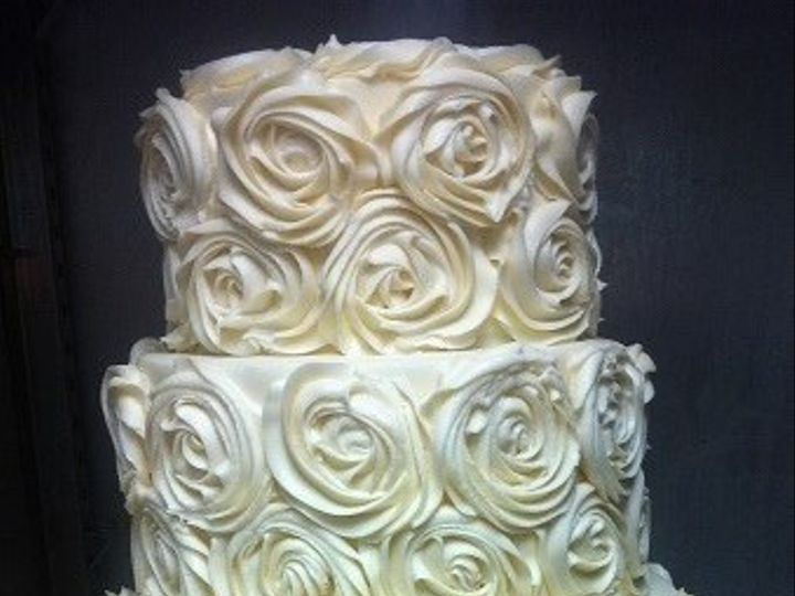 Tmx 1454697135415 Buttercream Rose Tiered Wedding Cake Seattle, WA wedding cake