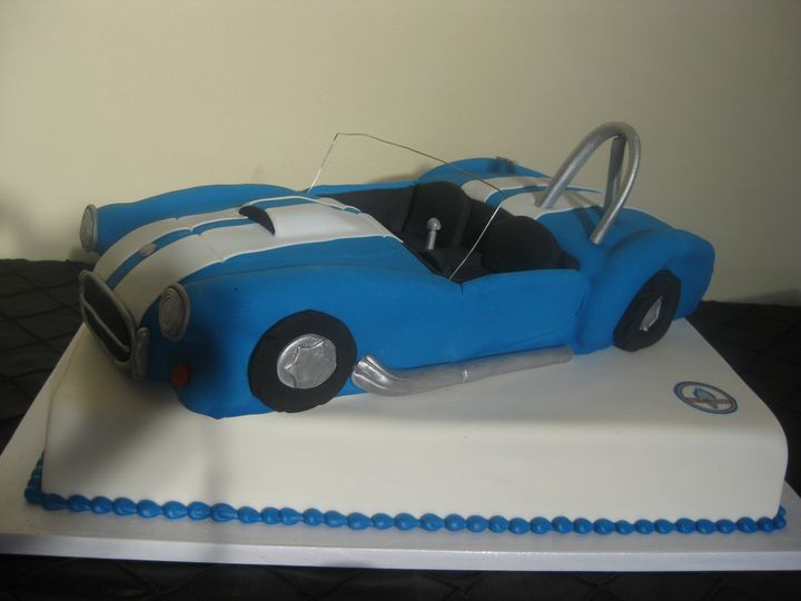 Tmx 1454697170834 Car Blue Convertible Shape Grooms 5 Seattle, WA wedding cake