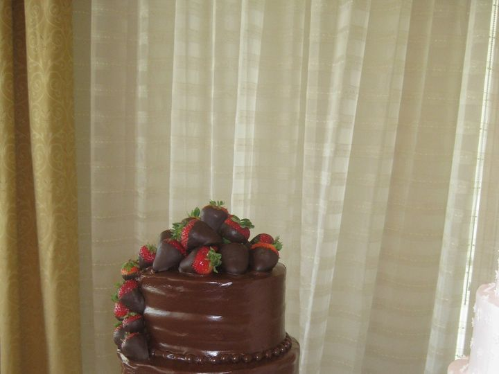Tmx 1454697200199 Choc Ganache And Strawberry Grooms Tiered Seattle, WA wedding cake