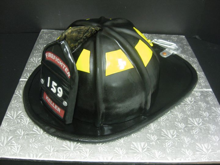 Tmx 1454697327448 Firefighter Helmet Shaped Grooms 1 Seattle, WA wedding cake