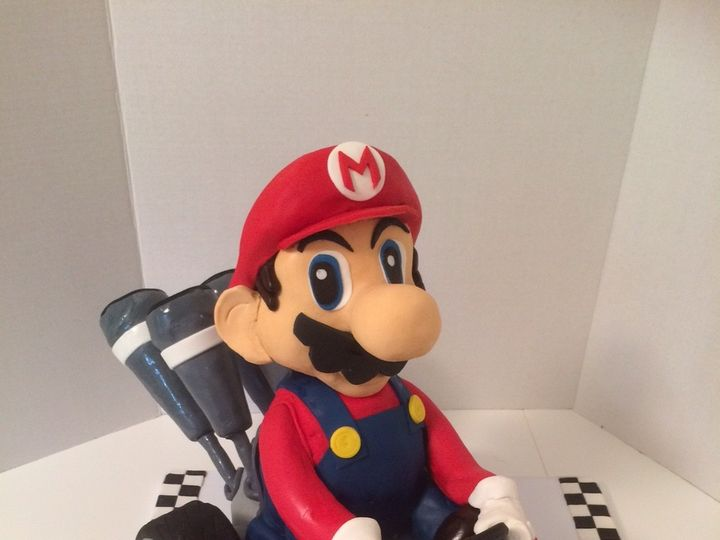 Tmx 1454697447486 Mario Kart Sculpted 3 Seattle, WA wedding cake