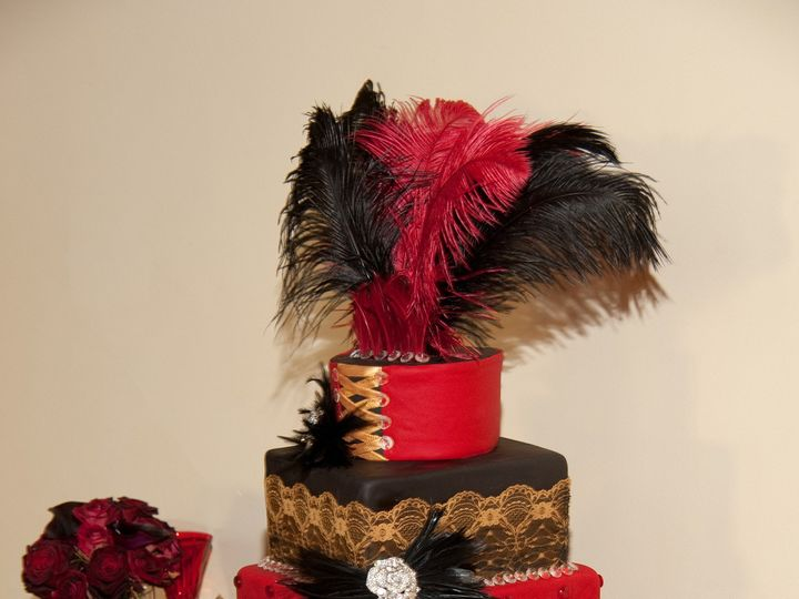 Tmx 1454697482792 Moulin Rouge Wedding Tiered 2 Seattle, WA wedding cake