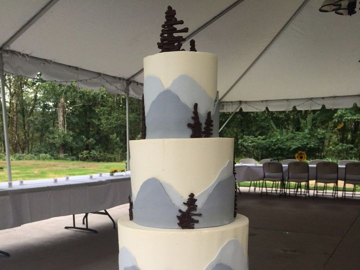Tmx 1454697494072 Mountain View Tiered Wedding 1 Seattle, WA wedding cake