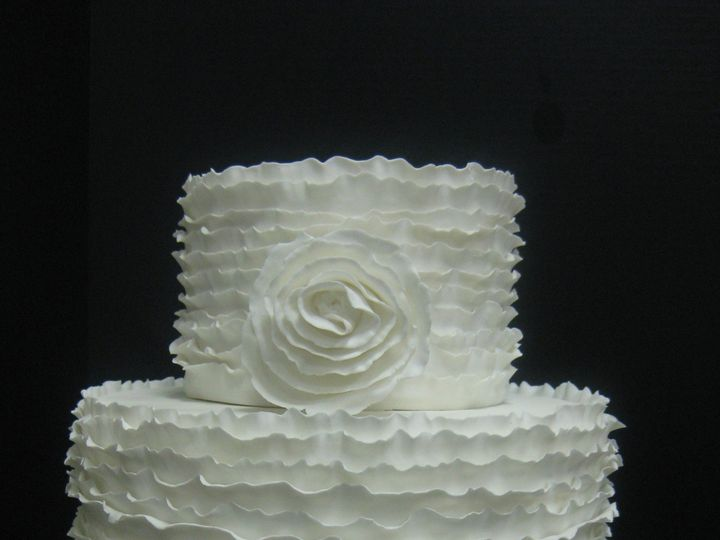 Tmx 1454697659350 Ruffles On Ruffles Wedding Tiered 1 Seattle, WA wedding cake