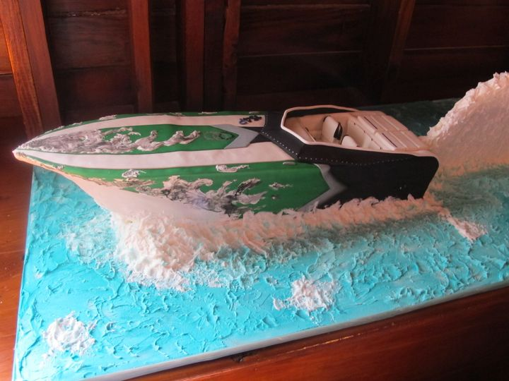 Tmx 1454697754007 Speed Boat Sculpted Grooms 4 Seattle, WA wedding cake