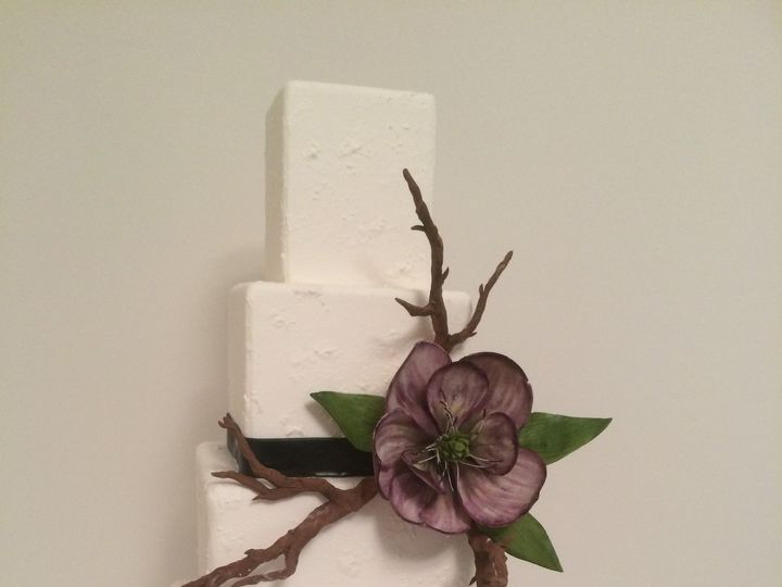 Tmx 1454697804561 Stucco Textured W Magnolia Flower And Brances Tier Seattle, WA wedding cake