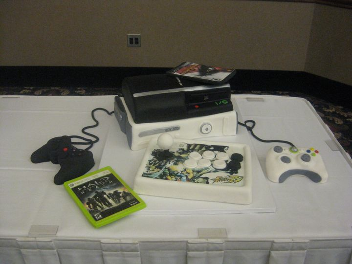 Tmx 1454697950291 Video Game Ps Xbox Controllers Games Sculpted Groo Seattle, WA wedding cake