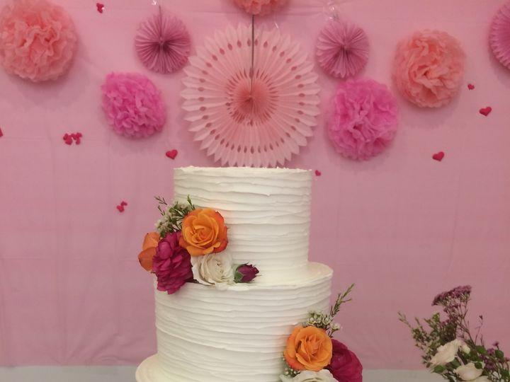 Tmx 1466823873823 Horizontal Textured Buttercream Tiered Wedding Cak Seattle, WA wedding cake