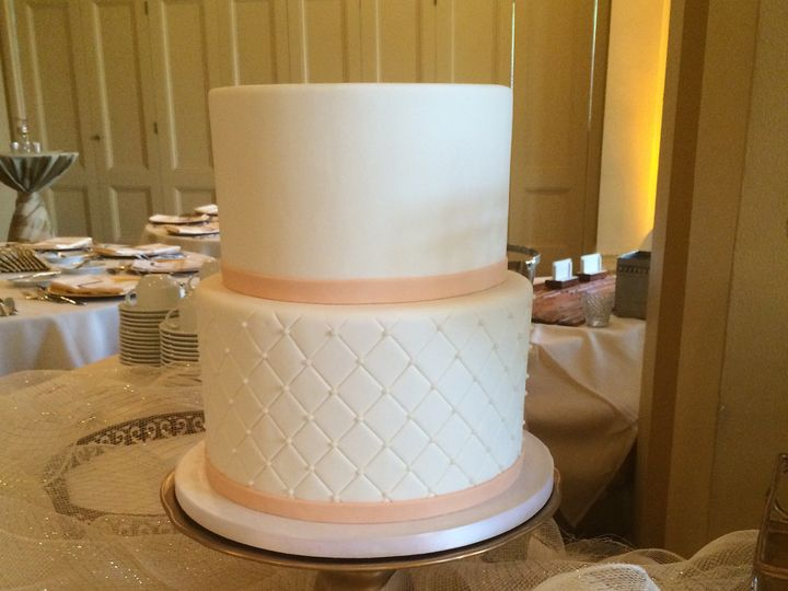 Tmx 1468339069947 Embossed Tiered Wedding Cake 1 Seattle, WA wedding cake