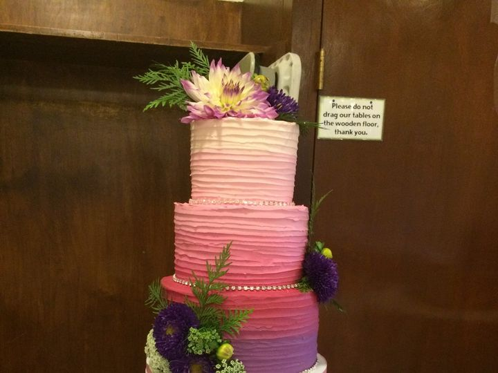Tmx 1488389672720 Horizonal Buttercream Ombre Wedding Tiered Fresh F Seattle, WA wedding cake