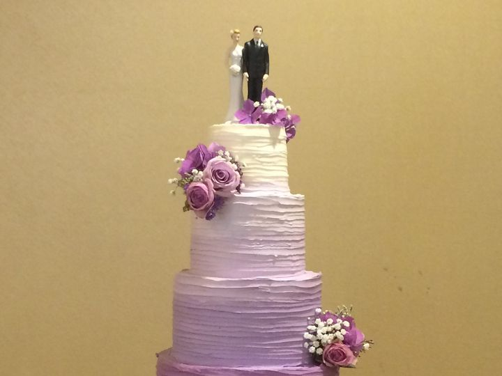 Tmx 1488389834747 Horizontal Buttercream Wedding Tiered Ombre Fresh  Seattle, WA wedding cake