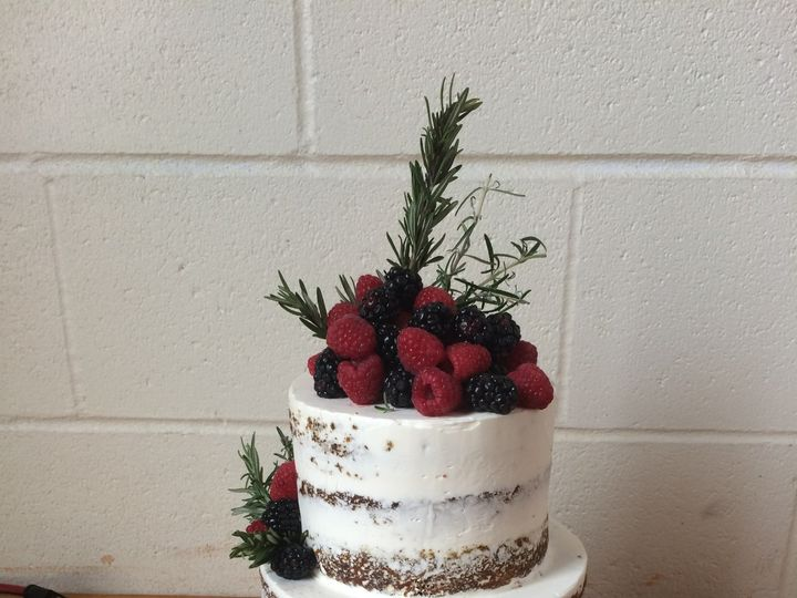 Tmx 1488389870103 Naked Wedding Tiered Rosemary And Berries 5 Seattle, WA wedding cake