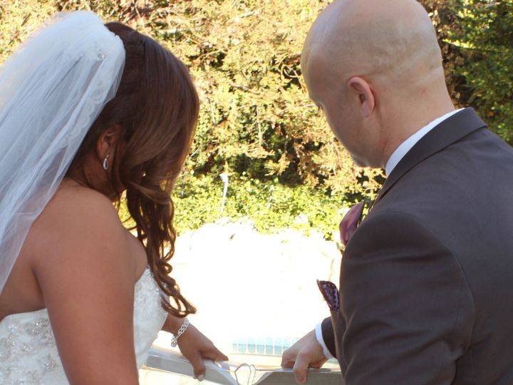 Tmx 1426625446427 Jenny  Rene Sand Ceremony West Hills wedding officiant