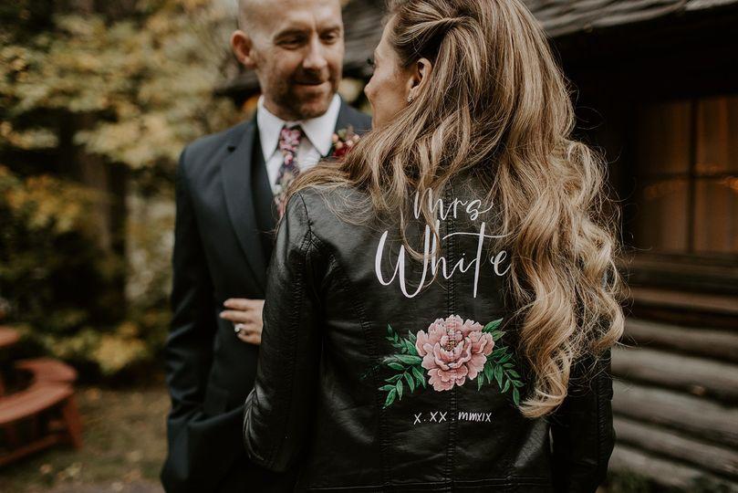 Custom handpainted jacket