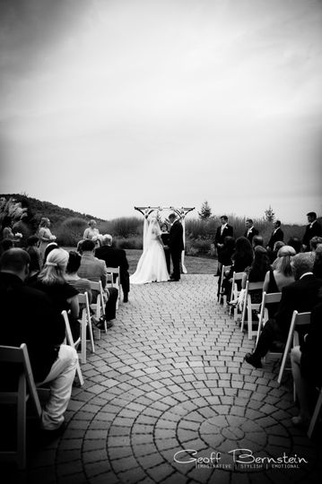 Wedding in black and white