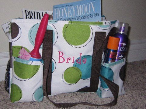 This organizing utility tote is perfect to keep all of your bridal things things together.  With 7...
