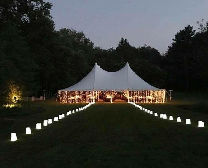 Beautiful Lighting Job with Century Pole Tent