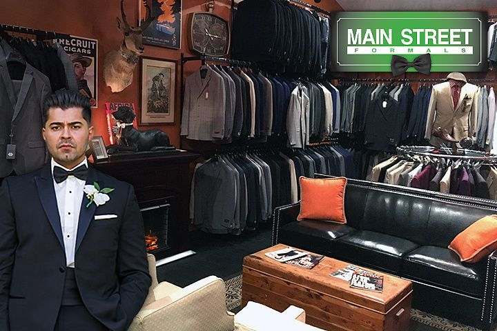 Our new, expanded suit shop.