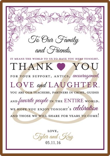 Wedding Chocolate Thank You Card