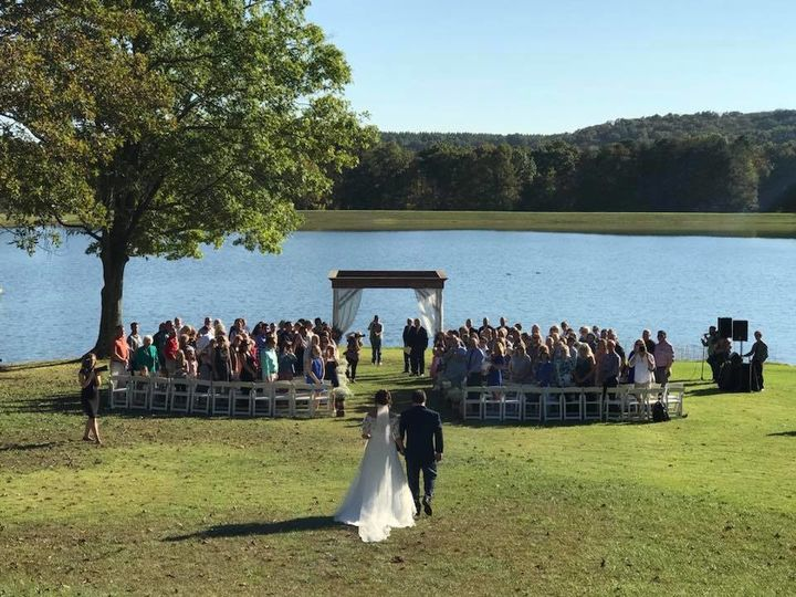 Wedding by the lake