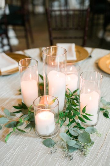 Candle lights and vines