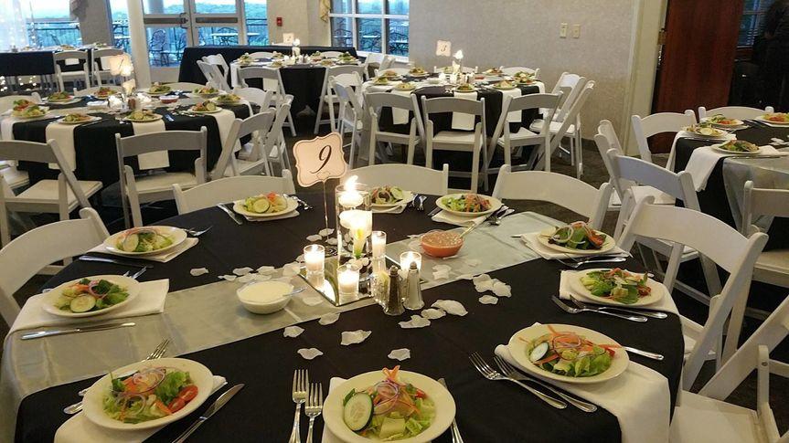 Pre-Set Salads for Reception