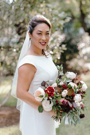 KMD Bride & her Moody Bouquet