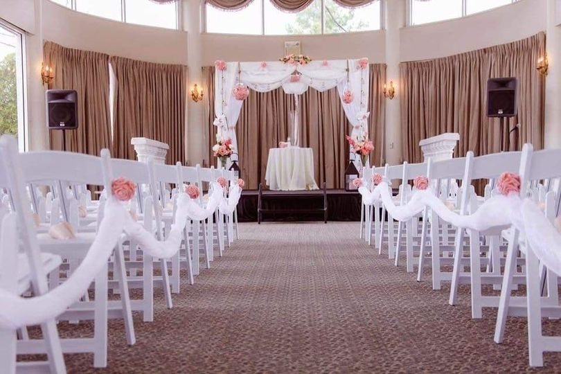 Beautiful ceremony space
